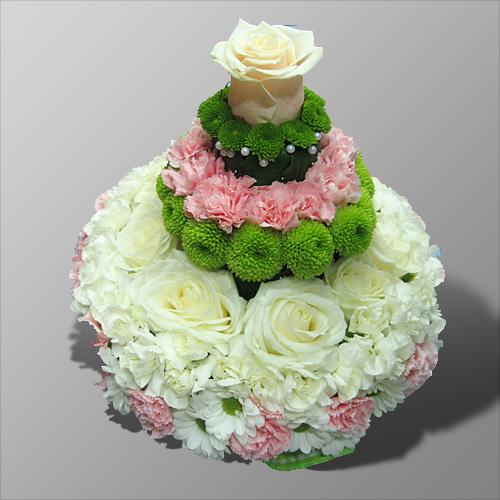 Открытка торт из цветов 48